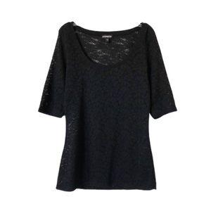 EXPRESS | Black Crochet Top